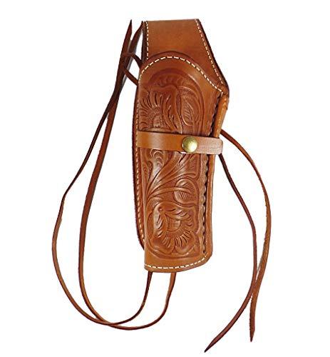 Holster Westernholster Holstertas gestippeld lichtbruin handwerk runderleer Peacemaker Colt
