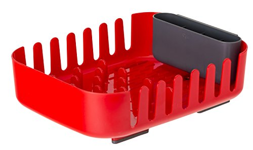 VIGAR Rengo Escurreplatos y Escurrecubiertos de Plastico, Abs, Rojo, 38.5 x 29 x 10.5 cm