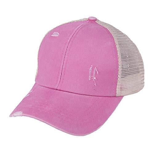 Baseball Kappe Sommer Mode Pferdeschwanz Baseball Cap Für Frauen Mesh Trucker Hut Distressed Snapback Hip Hop Caps Camo Dad Hüte Verstellbar Pink