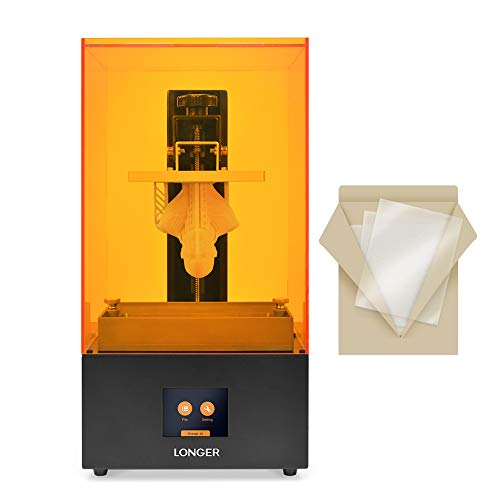 LONGER Orange 30 Stampante 3D LCD in Resina con 2K ad Alta Risoluzione, Illuminazione Parallela a LED, 120 x 68 x 170 mm Grandi Dimensioni di Stampa (New Orange 30 with 3 FEP Films)