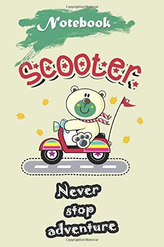 Bear Drive Scooter  - Primary Story Journal: Bear Notebook For Kids - Premium Journal Composition Notebook with 120 Lined Pages