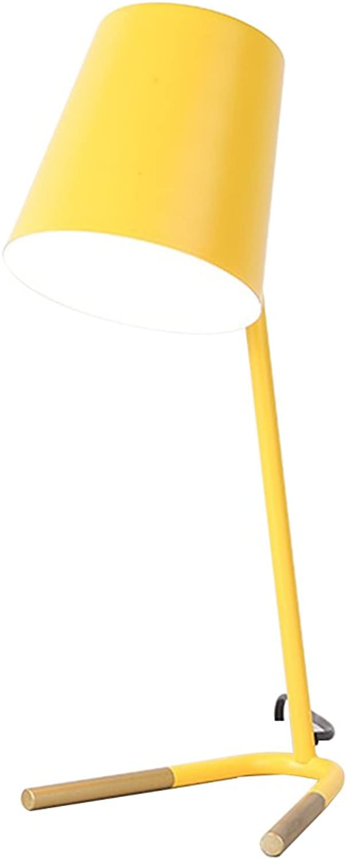 LYP-Leuchten Eisen Craft Tischleuchte Arbeitszimmer gelb Schreibtischlampe Schlafzimmer Nachttischlampe (E27 - keine Glühbirne Druckschalter) für Büro, Zuhause, Studium