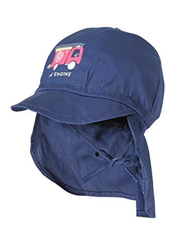 maximo Baby-Jungen Nackenschutz Mütze, Blau (Navy 48), (Herstellergröße: 49)