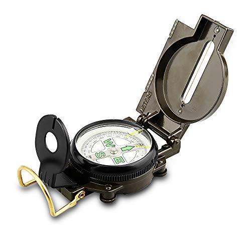 Brass Compass camping randonnée course d/'orientation Sundial militaire survie