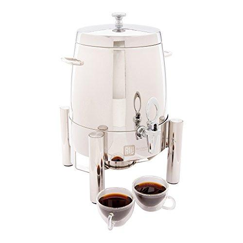 Urna de café de acero inoxidable, dispensador de agua caliente, grado comercial, caja de 12 l, 1 ct, Met Lux