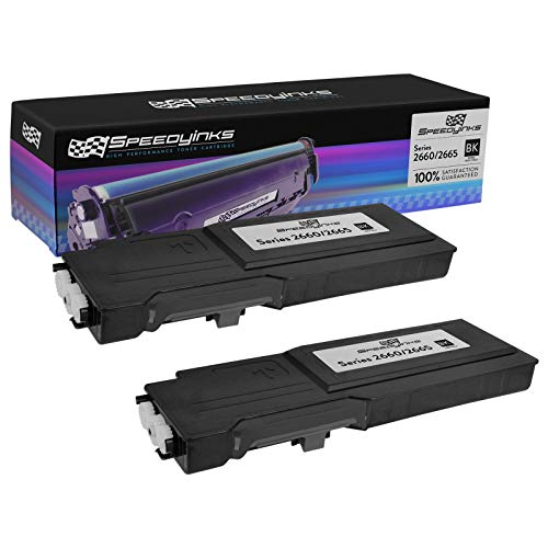 Speedy Inks Compatible Toner Cartridge Replacement for Dell C2660 C2660dn C2665dnf High-Yield (Black, 2-Pack)