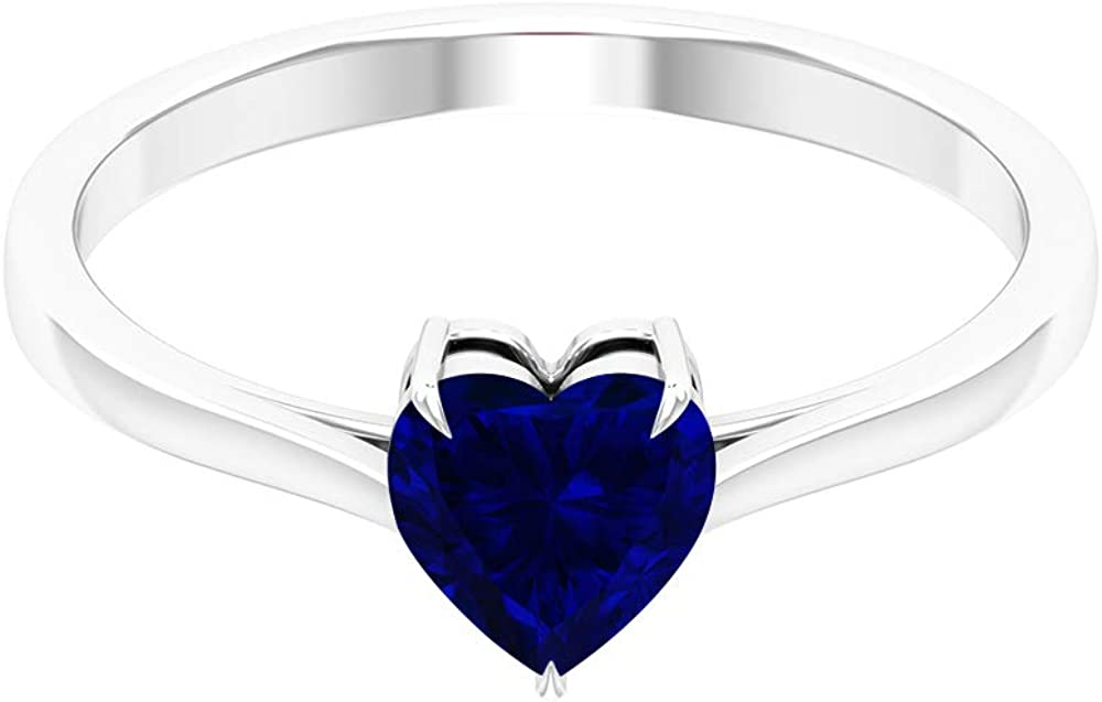 1 CT Blue Sapphire Solitaire Ring Gold Wholesale Engagement Sacramento Mall Simple