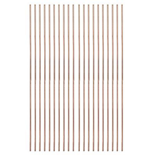 Varilla de soldadura de cobre fosforado redonda de 20 piezas consumibles de soldadura de varilla de soldadura para refrigeradores de aire acondicionado