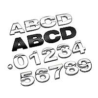 3Dメタルアルファベットシルバーバッジクロームシルバー文字番号ロゴ車のステッカー