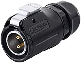 CNLINKO 2 Pin Power Industrial Circular Connector, Male Plug, Fit Furrion RV Solar Port, Outdoor Waterproof IP67, AC DC Signal, Fit Furrion, Grand Design, Forrest River RV Solar Ports
