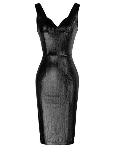 GRACE KARIN Rockabilly Kleider sexy cocktailkleider elegant Retro Kleider CL2830-4 S