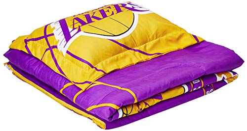 The Northwest Company Officially Licensed NBA Los Angeles Lakers Reverse Slam Full/Queen Comforter and 2 Sham Set