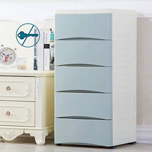 Lin Lin La gaveta de Almacenamiento del gabinete, Espesar Grande Simple de plástico de Cinco Capas Armario de niños con el Modelo de...