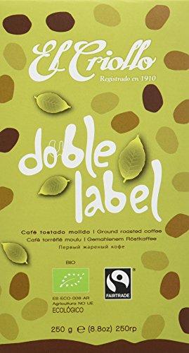 El Criollo Café Molido Doble Label - Paquete de 4 x 250 gr - Total: 1000 gr