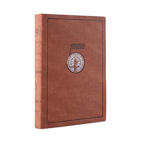 WPBOY Cuadernos Cita del Calendario, la pasión Planner Media Sin Fecha - orientado a Objetivos Agenda Diaria, Reflejo Journal-(8.3'x5.7) Plan de Libro-A5 Cuaderno de Moda (Color : 5 Years Brown)