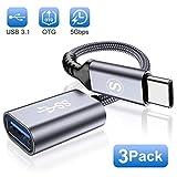 Adaptador USB C a USB 3.1 de Sweguard, adaptador USB C OTG tipo C, Thunderbolt 3 to USB para Samsung...