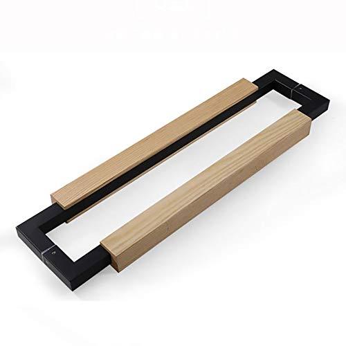 Pulls Cabinet Handles Modern Office Stainless Steel Glass Door Handle Solid Wood Framed Sliding Door Handle Multiple for Drawer Kitchen Barn (Color : Black-1, Size : 800mm)