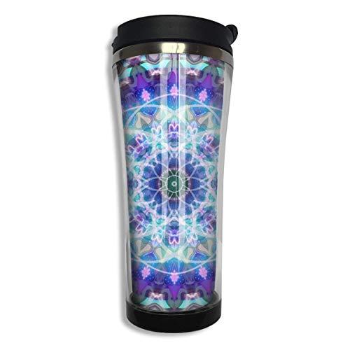 Vaso frío caliente con diseño de follaje floral Mandala con taza de café hermética al líquido Botella de bebida sellada al vacío