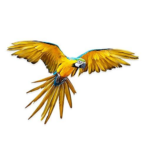 ZQZL Pegatinas de Animales Parrot Misterioso Personalizado PVC Coloree Decor Pegatina de Coche Calcomanía, 14 cm * 9cm