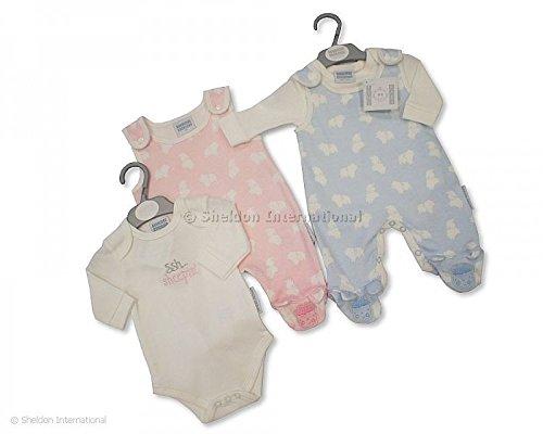 Dungaree - Salopette - Bébé (fille) 0 à 24 mois rose bleu 0-3 mois