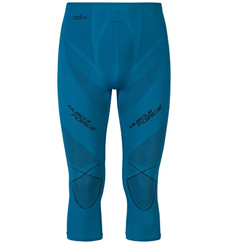 Odlo Evolution Warm Muscle Force pa, Collants 3/5 Homme S Verde (Verde Turchese)