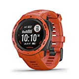 best garmin watch for hiking and cycling - Flame red garmin altimeter watch