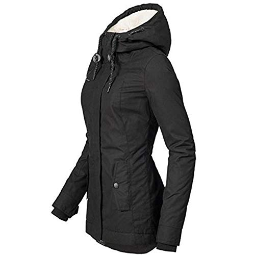 416iXDJ6fbL. SS500  - Aemiy Waterproof Warm Hooded Winter Coat, Thickend Fleece Lined Cotton Coat Windproof Warm Puffer Jacket with Fleece…