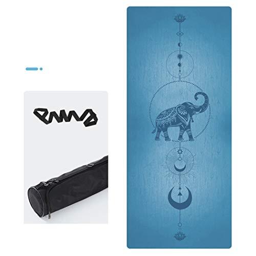 Yogamat, antislip, natuurlijk rubber, zeer duurzaam, mat, hoge dichtheid, yoga-oefening, voor aerobic, yoga (72 inch lang x 27 inch) breed)