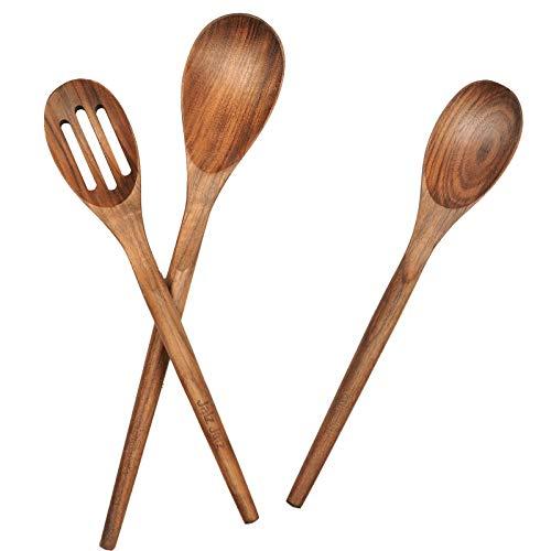 jalz jalz Wooden Spoons for Cooking,3-Piece