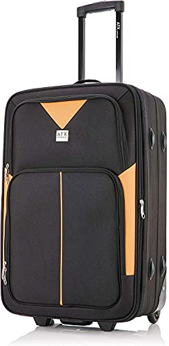 26' Medium Super Lightweight Expandable Durable Hold Luggage Suitcase Trolley Case Travel Bag with 2...