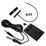 Artibetter 1 Set Violin Silent EQ Pickup Piezo Equalizer Mute Preamp with Plug Hole Cable for Electric Violin Parts Accessories