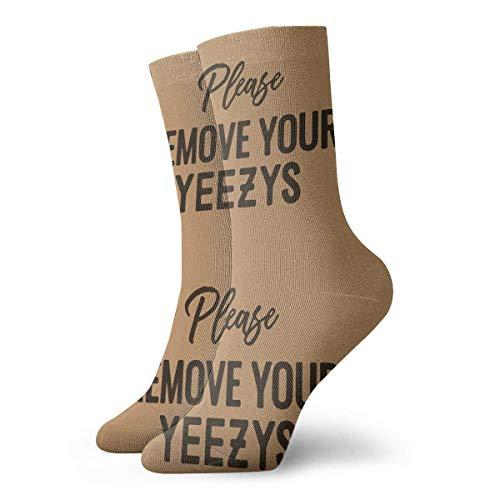 Tammy Jear Unisex Socken Lustige Worte sagen bitte entfernen Sie Ihre Yeezys Humor Mode Neuheit Trockensportsocken