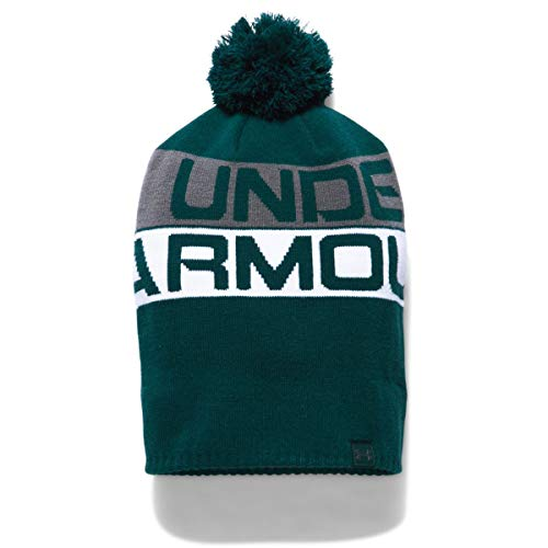 Under Armour Herren Retro Pom Beanie 2.0 Mütze, Arden Green/White/Graphite, OSFA