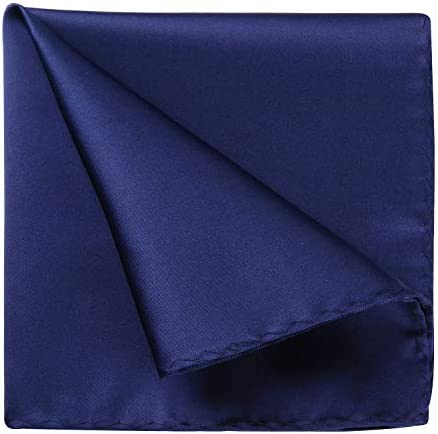 HISDERN Mens Handky Solid color Pocket Square Wedding Party Gift Handkerchief Tuxedo product image
