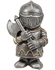 Knight kabouters Guard,Kruis Tempelier Guard Sculpturen & standbeelden, Europese middeleeuwse ridder Tin soldaten beeldhouwkunst Decor, Ridder kabouters Guard metalen sculptuur ornamenten