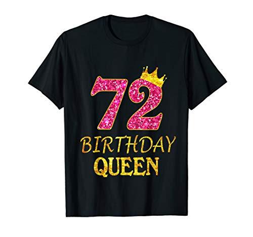 72 Years Old Birthday Queen Girl Shirt 72nd Birthday Pink T-Shirt