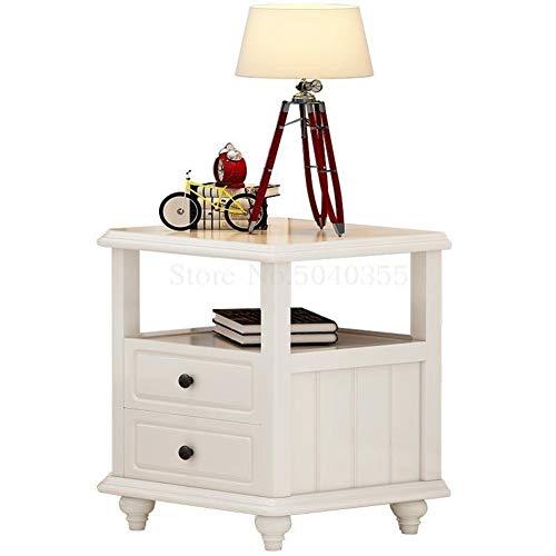 WFHhsxfh wit alle massief hout nachtkastje eenvoudige locker Amerikaanse kinderkast kleine opbergkast smalle kast wit massief hout Sid meubels