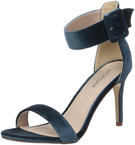 Morgan Savel, Zapatos con Tacon y Correa de Tobillo Mujer, Azul (Working Blue), 41 EU