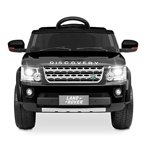 Kidzone Kids 12V Licensed Ride On SUV Car W/ 2.4G Parent Remote Control Battery Powered Kids Vehicle W/ 2 Speeds, Openable Doors, Spring Suspension, LED Headlight, USB/AUX/FM Music, Black