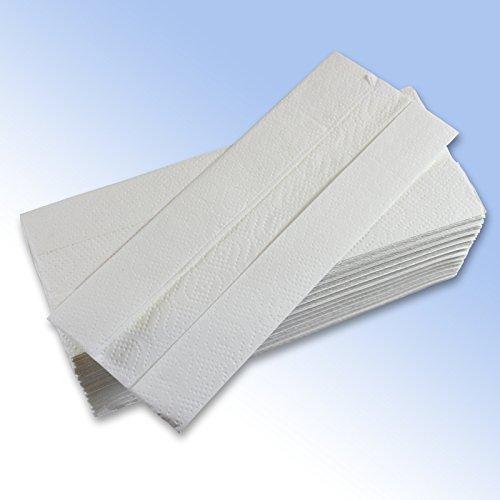 500 Lussuoso Centro Piegato Carta Mano Asciugamano Fogli 220 x 300mm 2 Pieghe Bianco piegati a C