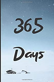 365 Days: Blank 365 Page Notebook : One Year Journal : Daily Diary, Planner, Draw, Doodle, Sketch Book for School, Office