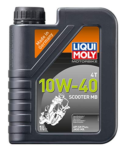 Liqui Moly 20832 - Aceite de Motor, Moto, 4T, 10W-40, Scooter MB,Booklet,...