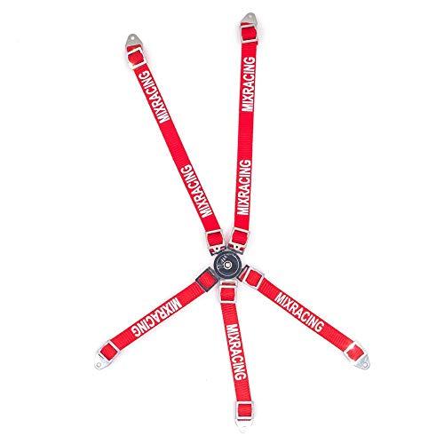 SODIAL Cintura di Sicurezza del Conducente Simulata per 1/10 RC Crawler Car Axial SCX10 Wraith TRX4 D90 RC Short-Course, Red