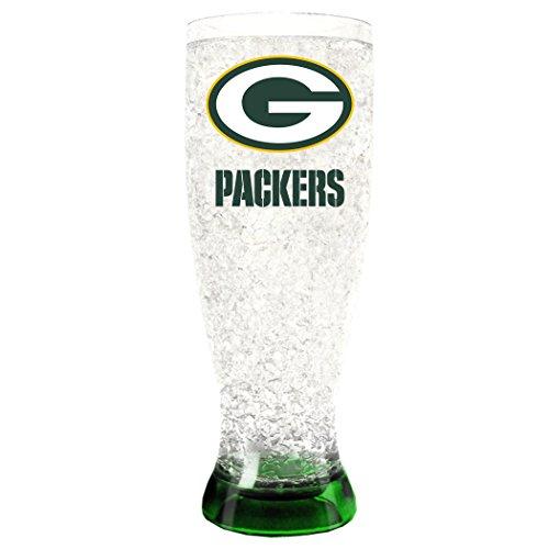 NFL Unisex Indoor, Unisex, 16oz Crystal Freezer Pilsner, Green Bay Packers, 16 Ounce