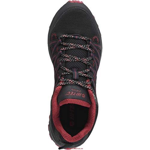 Hitec - Zapatillas Trail y Running Sensor Lite Hi-Tec Hombre Negro-Rojo 45