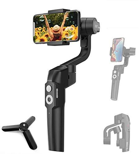 MOZA Mini-S Smartphone Gimbal Estabilizador de cardán Plegable de 3 Ejes para teléfono Inteligente