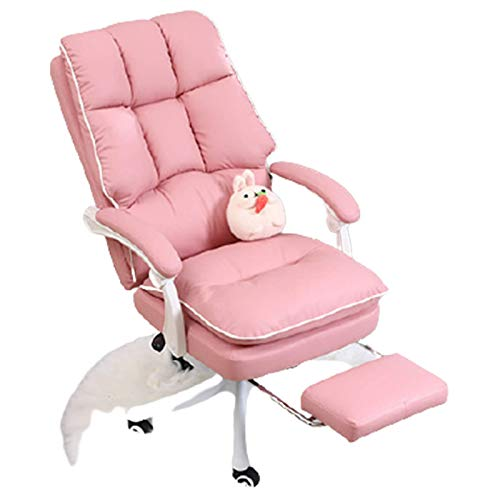オフィスチェア 人間工学椅子 足置き台付き リクライニングチェア 搖りチェア パソコンチェア デスクチェア ハイバック事務椅子 男女兼用,A