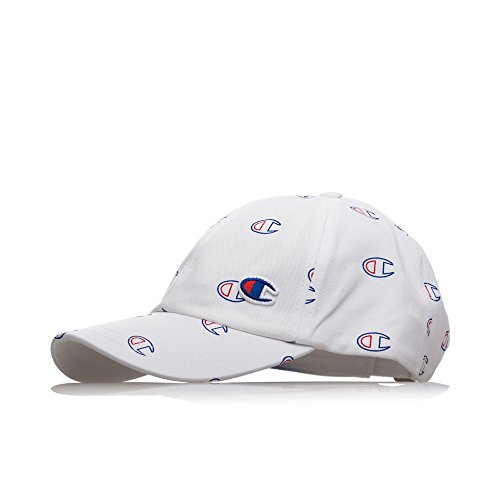 Champion All-Over C Logo Baseball Cap White-Gorras