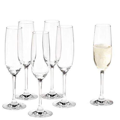 Leonardo Sektglas Ciao+, 6-er Set, 190 ml, spülmaschinenfest, Teqton-Kristallglas, 061445