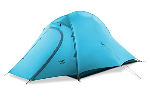 MIER 1 and 2 Person Camping Tent with Footprint Waterproof Backpacking Tent, Lightweight and Quick Setup